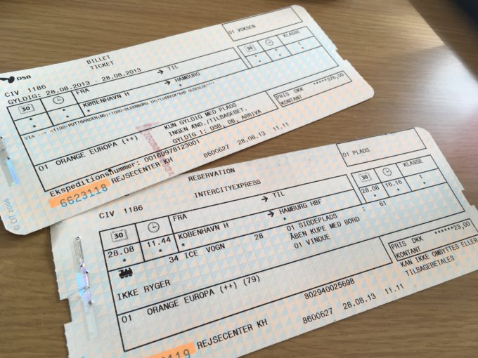 乗車券と座席予約券