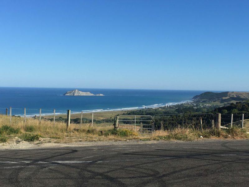 Waimarama Beachを見下ろす