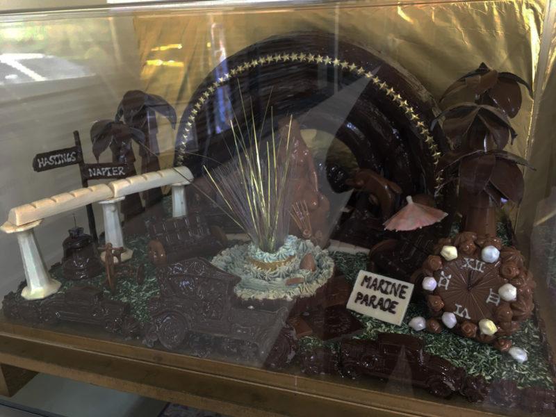 チョコレートで出来たHawke's Bay